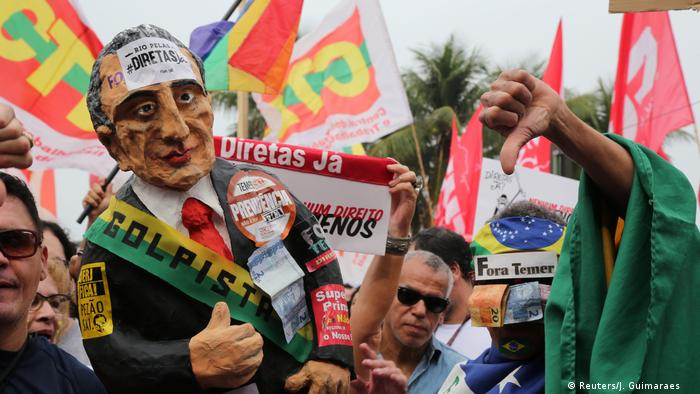 Proteste gegen Brasiliens Präsident Michel Temer in Rio de Janeiro (Reuters/J. Guimaraes )