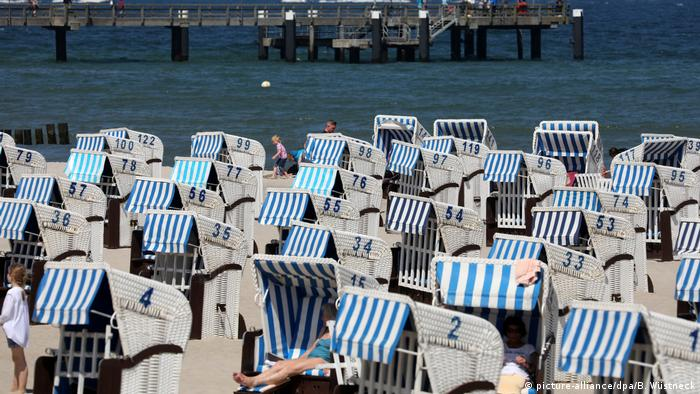 Beach chairs on the Baltic coast