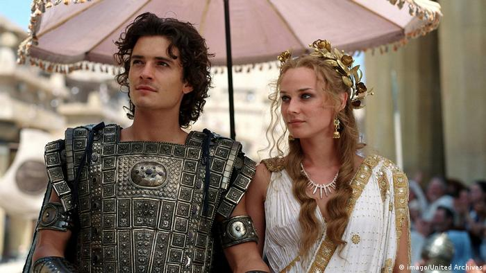 Film-still from Troy with Orlando Bloom and Diane Kruger (imago/United Archives)