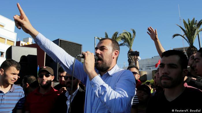 Marokko Nasser Zefzafi, Anführer Protestbewegung (Reuters/Y. Boudlal)