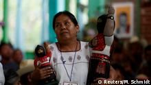 28.05.2017+++ Maria de Jesus Patricio Martinez, the new candidate representing the Zapatista National Liberation Army (EZLN) for the upcoming presidential elections to be held in 2018, gestures during the National Indigenous Congress in San Cristobal de las Casas, Chiapas, Mexico May 28, 2017. REUTERS/Violeta Schmidt