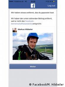 Screenshot Facebook Account Markus Hibbeler