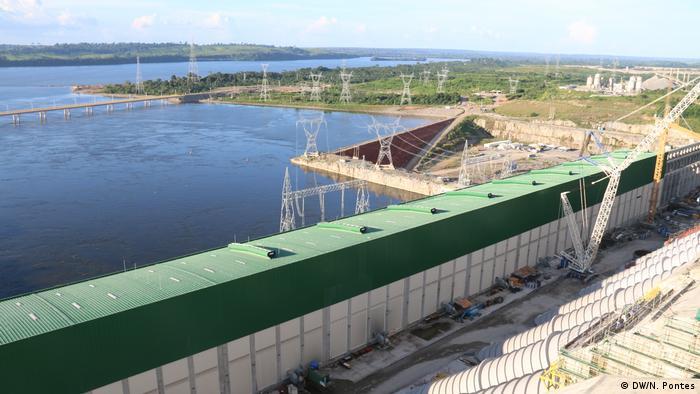 The hydroelectric dam complex on Brazil's Xingu River