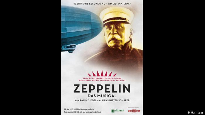 Placard for Zeppelin Das Musical (Photo: Gallissas)