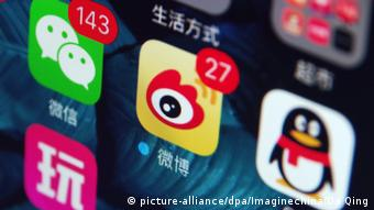 Weibo und andere Messenger (picture-alliance/dpa/Imaginechina/Da Qing)