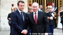 Frankreich - Paris - Vladimir Putin trifft Emmanuel Macron