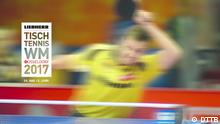 Tischtennis WM 2017 in Düsseldorf - Banner der Veranstalter © Copyright: DTTB