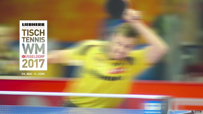 Tischtennis WM 2017 in Düsseldorf - Banner der Veranstalter