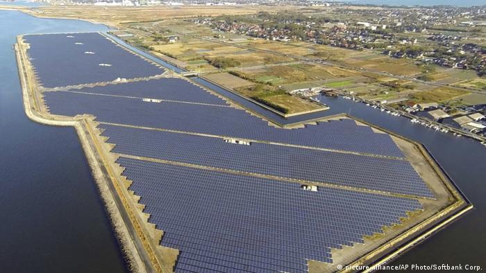 Parque solar de Tottori-Yonago, en Japón.
