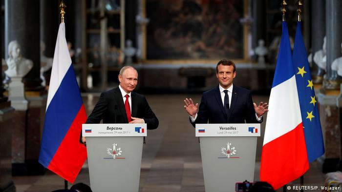 Macron recibió a Putin en el Palacio de Versalles