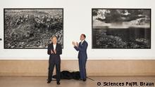 29/5/2017 Paris, Frankreich französisch-brasilianischen Fotografen Sebastião Salgado spendet zwei Fotografien an der Universität Sciences Po