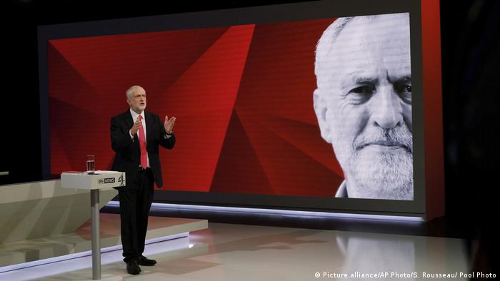 The little red devil: Labour leader Jeremy Corbyn.