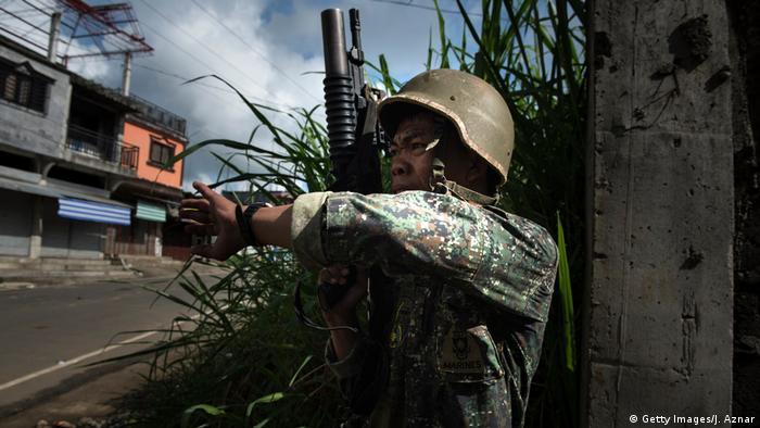 Philippinen Rückeroberung der Stadt Marawi - Kampf gegen den IS (Getty Images/J. Aznar)