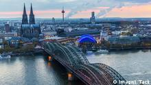 Germany, aerial cityscape of Cologne (Imago/J. Tack)