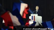 07.05.2017 +++ ; POLITIQUE - ELECTION PRESIDENTIELLE 2017 - EMMANUEL MACRON ELU PRESIDENT DE LA REPUBLIQUE - EN MARCHE. Carrousel du Louvre, Paris 7 mai 2017. Discours d'Emmanuel MACRON qui devient le 8ème président de la Vème République française. A 39 ans, il est aussi le plus jeune président que la France a connu ainsi que le plus jeune président au monde. PHOTO Alexandre MARCHI. Foto: A Marchi/MAXPPP/dpa |