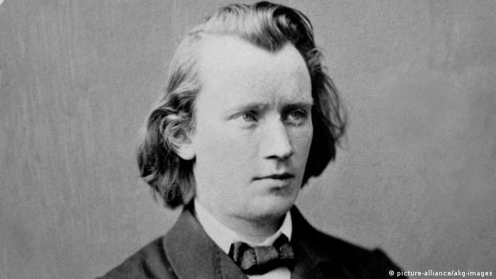 Johannes Brahms em foto de 1864
