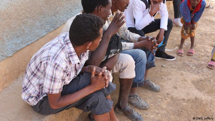 Eritrean asylum seekers in Tigray, Ethiopia (DW/J. Jeffery)