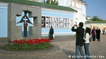 Mahnmal Opfer der Hungersnot in Kiew (Foto: dpa)
