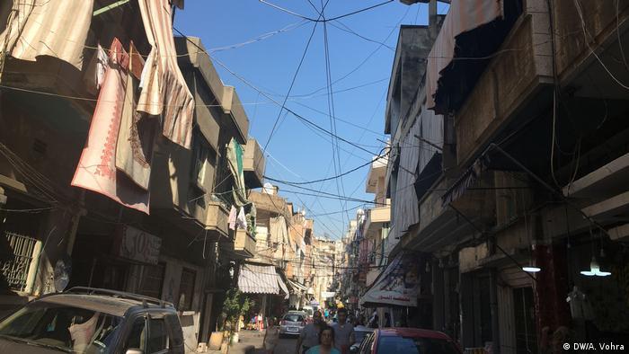 The street in Beirut where the Hariri family lives