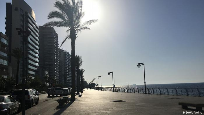 The seaside in Beirut