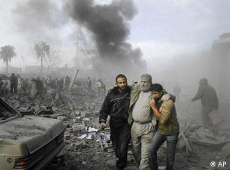 Rauch über Zielen im Gazastreifen