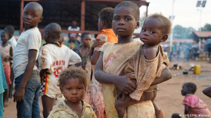 Refugee children from DRC in Angola.