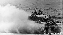 Sechstagekrieg - israelische Panzer in den Golanhöhen - Syrien
