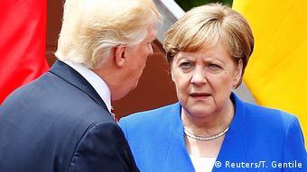 Donald Trump and Angela Merkel at G7