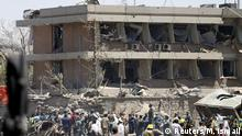 Afghanistan   beschädigte deutsche Botschaft in Kabul