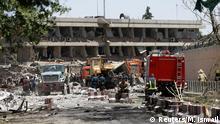 Afghanistan | beschädigte deutsche Botschaft in Kabul