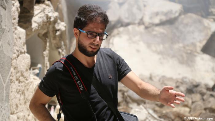 Syrischer Kriegsfotograf Karam al-Masri