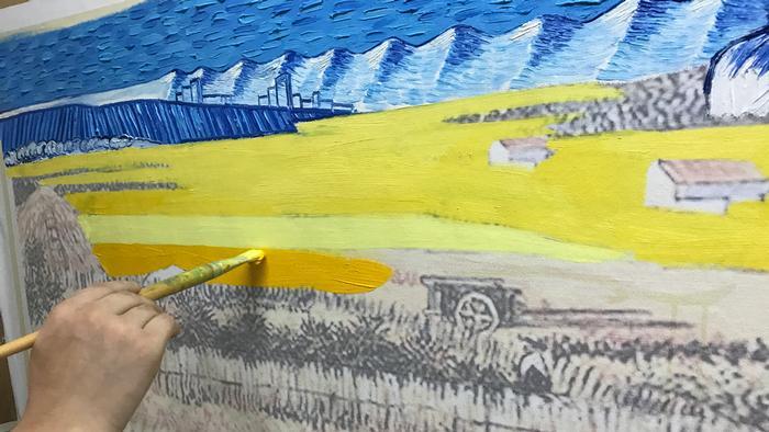Obra de Van Gogh sendo copiada na China
