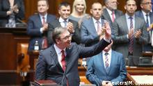Serbien Parlament in Belgrad - Amtsantritt Präsident Aleksandar Vucic
