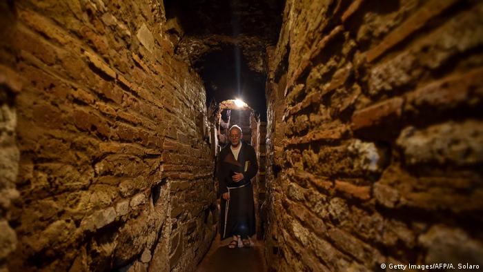 Italien   Domitilla Katakomben Rom (Getty Images/AFP/A. Solaro)