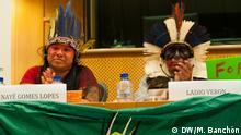 Europäisches Parlament Konferenz Guaraní-Kawioá-Indianer | Ladio Verona und Inayé Gomes Lopes