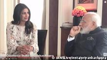 Screenshot Youtube IANSLive Priyanka Chopra und Narendra Modi
