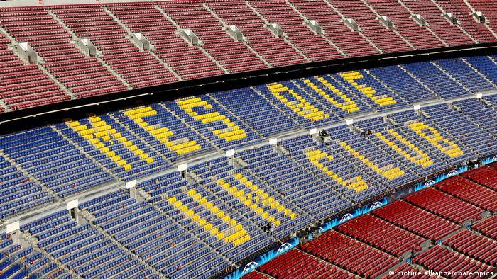 Spain football stadium Camp Nou in Barcelona