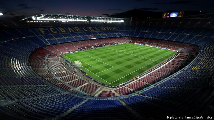 Spanien Fußballstadion Camp Nou in Barcelona