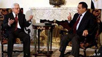 Ägypten Palästinenser Mahmoud Abbas in Kairo bei Hosni Mubarak