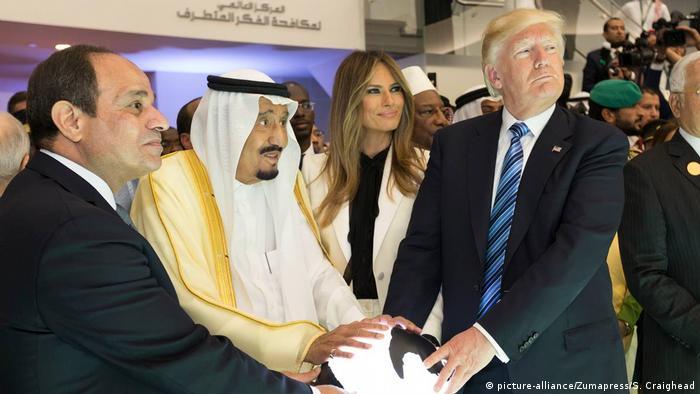 Trump'ın Suudi Arabistan'a yaptığı ziyaretten bir kare (Arşiv)