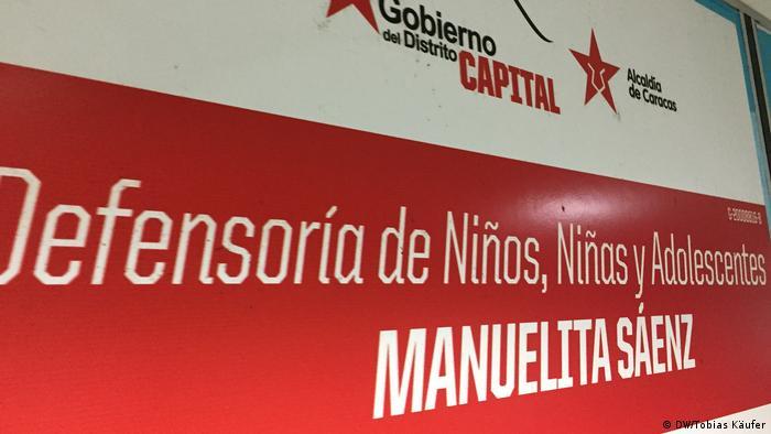 Cartaz de propaganda do governo venezuelano