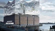 Dalmannkai Elbphilharmonie Montage *** Pressestelle von HafenCity
