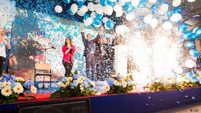 Kosovo Wahlkampf Partei LDK