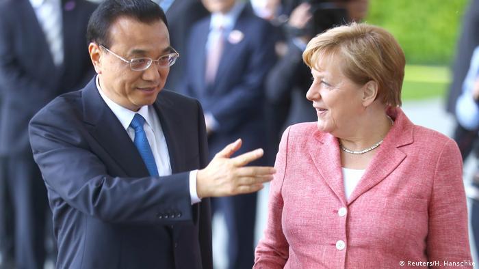 Deutschland Besuch chinesischer Premierminster Li Keqiang in Berlin (Reuters/H. Hanschke)