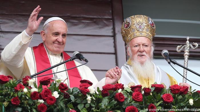 Türkei Papst Franziskus und Patriarch Bartholomaios I.