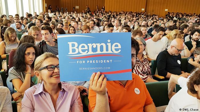 Deutschland Bernie Sanders Gespräch in Berlin