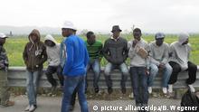 Iatlien Asylbewerberlager bei Mineo auf Sizilien