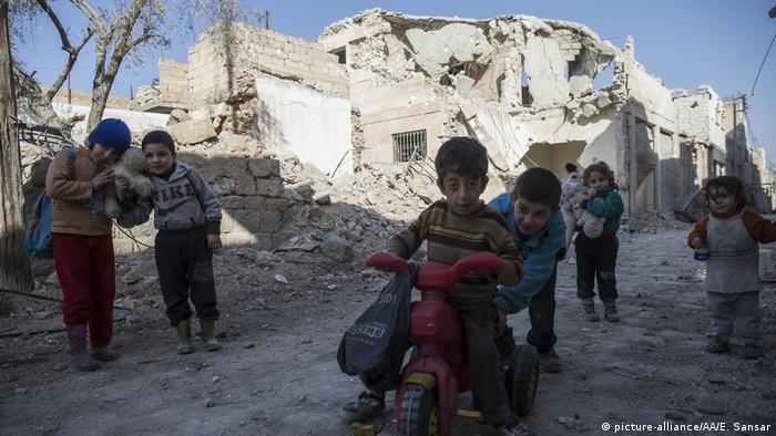 Syrien Kinder im Krieg in Aleppo