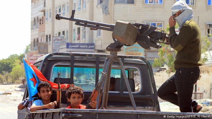 Jemen Kindersoldaten in Aden
