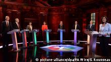 Großbritannien Wahlen TV-Debatte in London